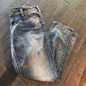Silver Jeans  29/25  Fluid Boyfriend Jeans